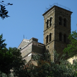 first view of the Sanctuary of Santa Margherita