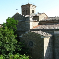 view of the back of the Sanctuary of Santa Margherita