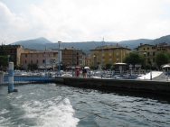 leaving Iseo Italy Trip 2008, boat ride from Iseo to Monte Isola, Lago d'Iseo, Italy Date: Saturday July 12, 2008