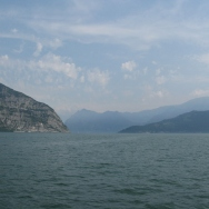 Italy Trip 2008, boat ride from Iseo to Monte Isola, Lago d'Iseo, Italy Date: Saturday July 12, 2008