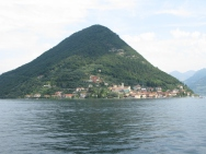 view of Monte Isola Italy Trip 2008, boat ride from Iseo to Monte Isola, Lago d'Iseo, Italy Date: Saturday July 12, 2008
