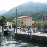 stopping in Sulzano on the way to Monte Isola Italy Trip 2008, boat ride from Iseo to Monte Isola, Lago d'Iseo, Italy Date: Saturday July 12, 2008