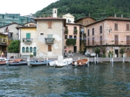 arriving in Peschiera, town on Monte Isola Italy Trip 2008, Monte Isola, Lago d'Iseo, Italy Date: Saturday July 12, 2008