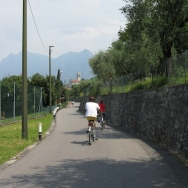 bike ride around the island of Monte Isola - Guido & Katia Italy Trip 2008, Monte Isola, Lago d'Iseo, Italy Date: Saturday July 12, 2008