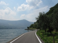 bike ride around the island of Monte Isola - heading back to Peschiera Italy Trip 2008, Monte Isola, Lago d'Iseo, Italy Date: Saturday July 12, 2008
