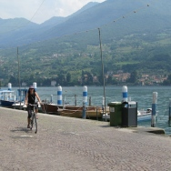 bike ride around the island of Monte Isola - me Italy Trip 2008, Monte Isola, Lago d'Iseo, Italy Date: Saturday July 12, 2008