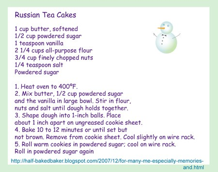 russian tea cakes blog recipe