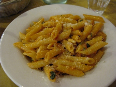 penne pasta Italy Trip 2009, Lucca, Italy Date: Friday July 03, 2009