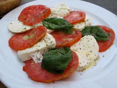 caprese salad at Cafe Zerocinquantuno Italy Trip 2009, Bologna, Italy Date: Sunday July 05, 2009