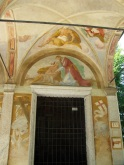 Frescos on the outside of Chapel IV. The inside of this building was closed.
