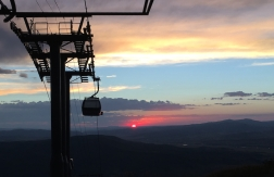 sunset happy hour Steamboat Springs, Colorado, August, 2016