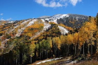 fall snow hike on the mountain Steamboat, Colorado Date: Sunday September 25, 2016