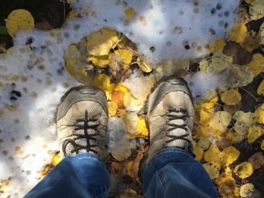 fall snow hike