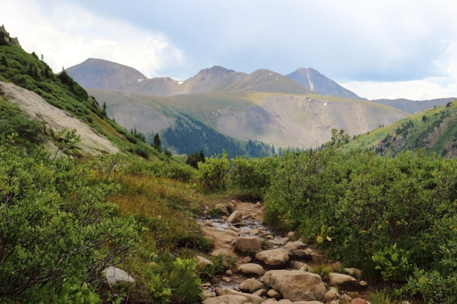 lost man trail - upper - hike Aspen side of Independence Pass, Colorado, August, 2016