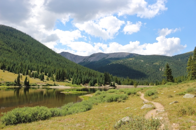 lost man trail - lower - hike Aspen side of Independence Pass, Colorado, August, 2016
