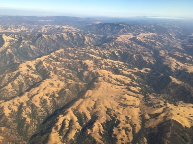 view from the plane Denver to San Francisco flight, Date: Monday September 12, 2016
