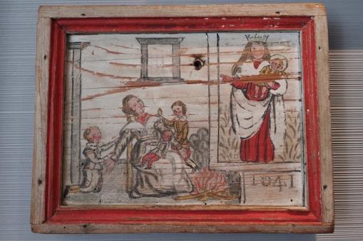 ancient ex voto on wood