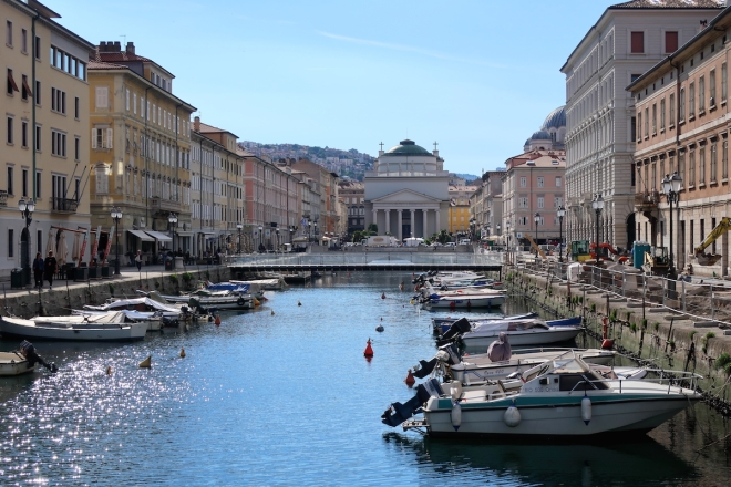 Canal Grande di Trieste Trieste, Italy, May, 2017