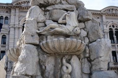 Piazza Unità d'Italia - Fontana dei Quattro Continenti Trieste, Italy Date: Friday May 26, 2017
