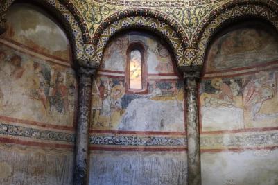 Inside La Cattedrale di San Giusto Trieste, Italy Date: Friday May 26, 2017