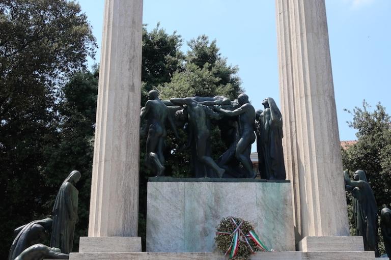 Monumento ai Caduti di Piazza Vittoria Treviso, Italy, May, 2017