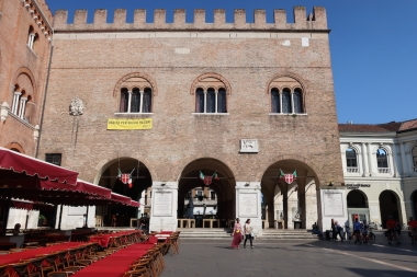Palazzo dei Trecento located in the Piazza dei Signori Treviso, Italy Date: Monday May 29, 2017