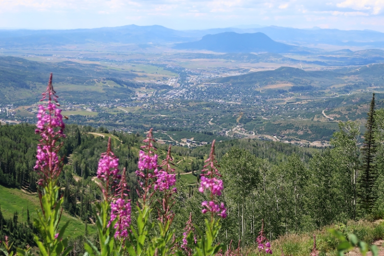 summer mountain hike Steamboat Springs, Colorado, July, 2017