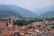 View from the top of La Torre Civica Bassano del Grappa, Italy Date: Wednesday May 31, 2017
