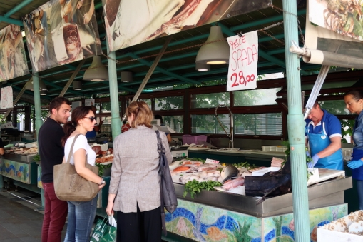 Fish market Treviso, Italy Date: Thursday June 01, 2017