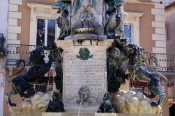 close up of Fontana di Piazza della Libertà