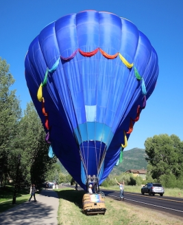 hot air balloons Steamboat Springs, Colorado, July, 2017
