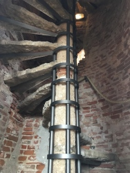 Climbing La Torre Civica Bassano del Grappa, Italy Date: Wednesday May 31, 2017