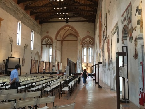 Inside the Chiesa di Santa Caterina Treviso, Italy Date: Thursday June 01, 2017