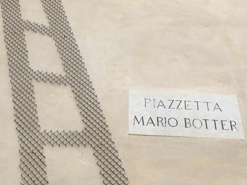 Piazzetta Mario Botter - outside the Museo di Santa Caterina Treviso, Italy Date: Thursday June 01, 2017