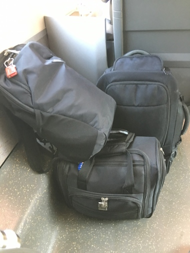 train travel, luggage Venezia Mestre to Bologna, Italy Date: Friday June 02, 2017