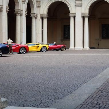 Fancy cars inside the courtyard