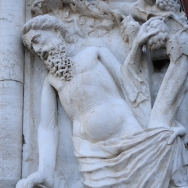 sculpture by view of the Bridge of Sighs