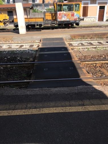 where you walk over the tracks
