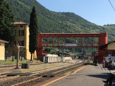 view from the Iseo train station