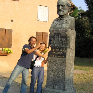 Italy Trip 2003, Le Roncole (today known as Roncole Verdi) in the comune of Busseto, Italy Date: Saturday June 28, 2003