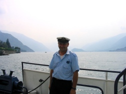 Friendly guy working on the boat / Lake Como