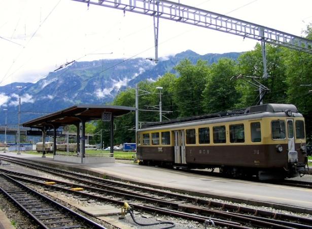 Italy Trip 2003, Interlaken Ost train station, Switzerland