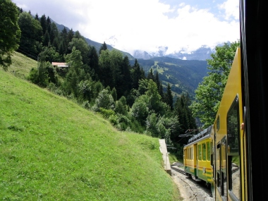 Italy Trip 2003, Train ride from Wengan to Lauterbrunnen, Switzerland Date: Saturday July 05, 2003
