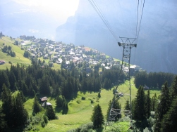 Italy Trip 2003, Cable ride up to the top of Schilthorn, in the Bernese Oberland, Switzerland Date: Sunday July 06, 2003
