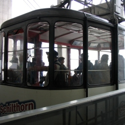 Italy Trip 2003, Cable ride back down from the top of Schilthorn to Mürren, Switzerland Date: Sunday July 06, 2003