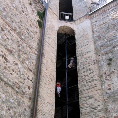 climbing the Castello Scaligero Italy Trip 2005, Sirmione, Lago di Garda, Italy Date: Wednesday June 22, 2005