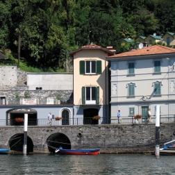 boat ride from Bellagio to Villa del Balbianello - view of Tremezzo Italy Trip 2005, Lago di Como, Italy Date: Thursday June 30, 2005