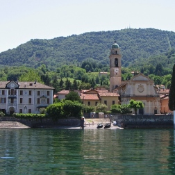 boat ride from Villa del Balbianello to Bellagio - view of San Giovanni and the church of San Giovanni Italy Trip 2005, Lago di Como, Italy Date: Thursday June 30, 2005