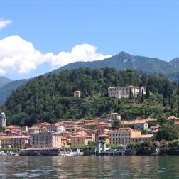 boat ride from Villa del Balbianello to Bellagio - view of Bellagio Italy Trip 2005, Lago di Como, Italy Date: Thursday June 30, 2005